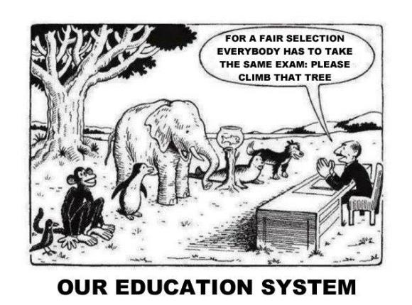 one size fits all education